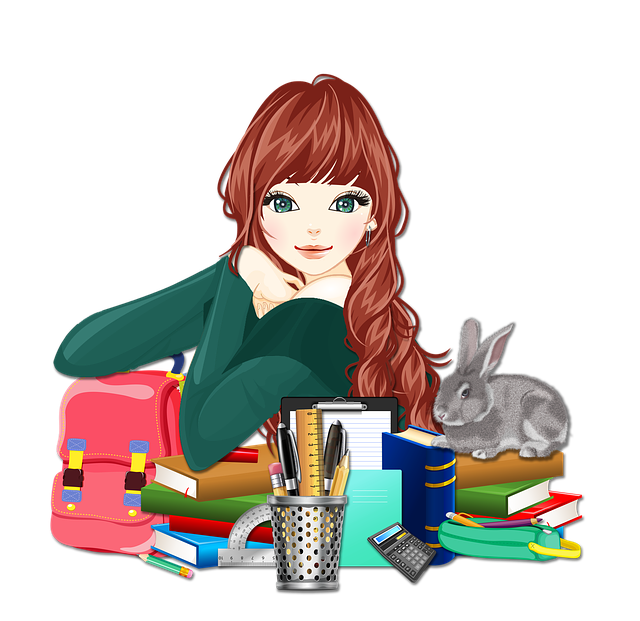 studentka s králíkem