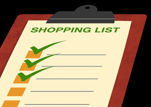 nákupní seznam